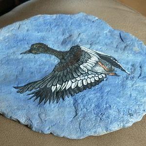 🇨🇦Hand painted garden rock Canada Goose
